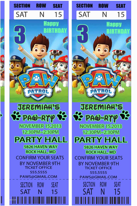 Paw Patrol Party Invitations Paw Patrol Parties