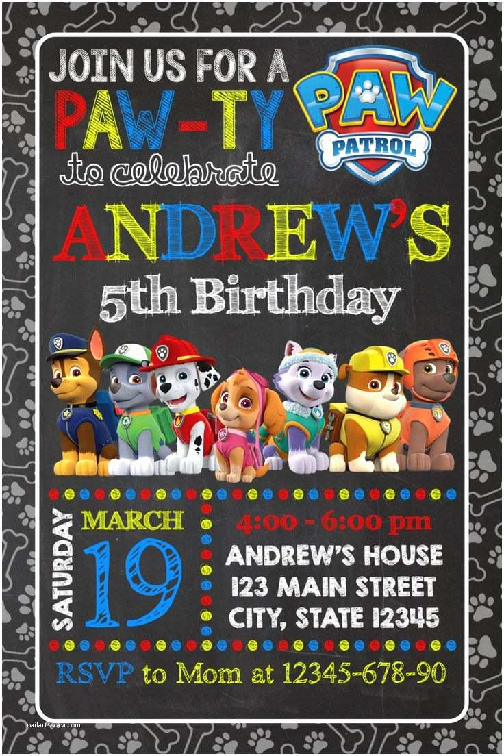 Paw Patrol Party Invitations the 25 Best Paw Patrol Party Invitations Ideas On