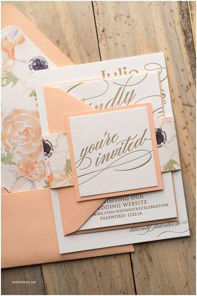 Peach Wedding Invitations Best 25 Peach Wedding Invitations Ideas On Pinterest