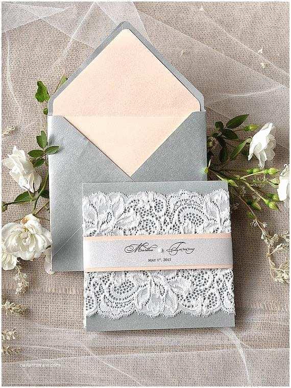 Peach Wedding Invitations Custom Listing 20 Silver and Peach Wedding Invitation