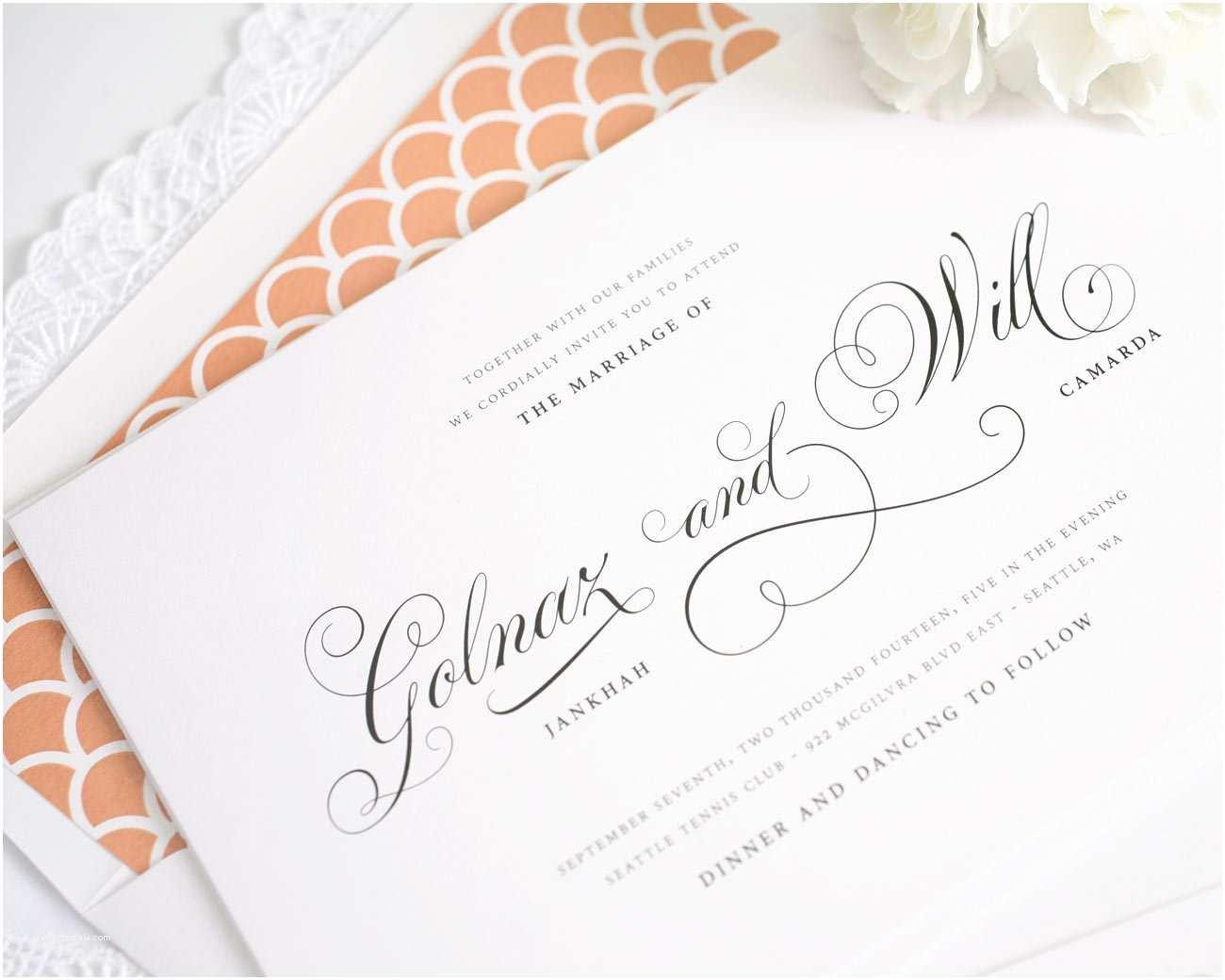 Peach Wedding Invitations Peach Gold and Aqua Wedding Inspiration – Wedding Invitations