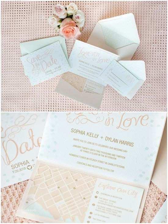 Peach Wedding Invitations Romantic Mint Peach and Gold Wedding Ideas