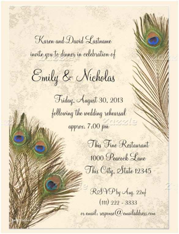 Peacock Feather Wedding Invitations 25 Peacock Wedding Invitation Templates – Free Sample