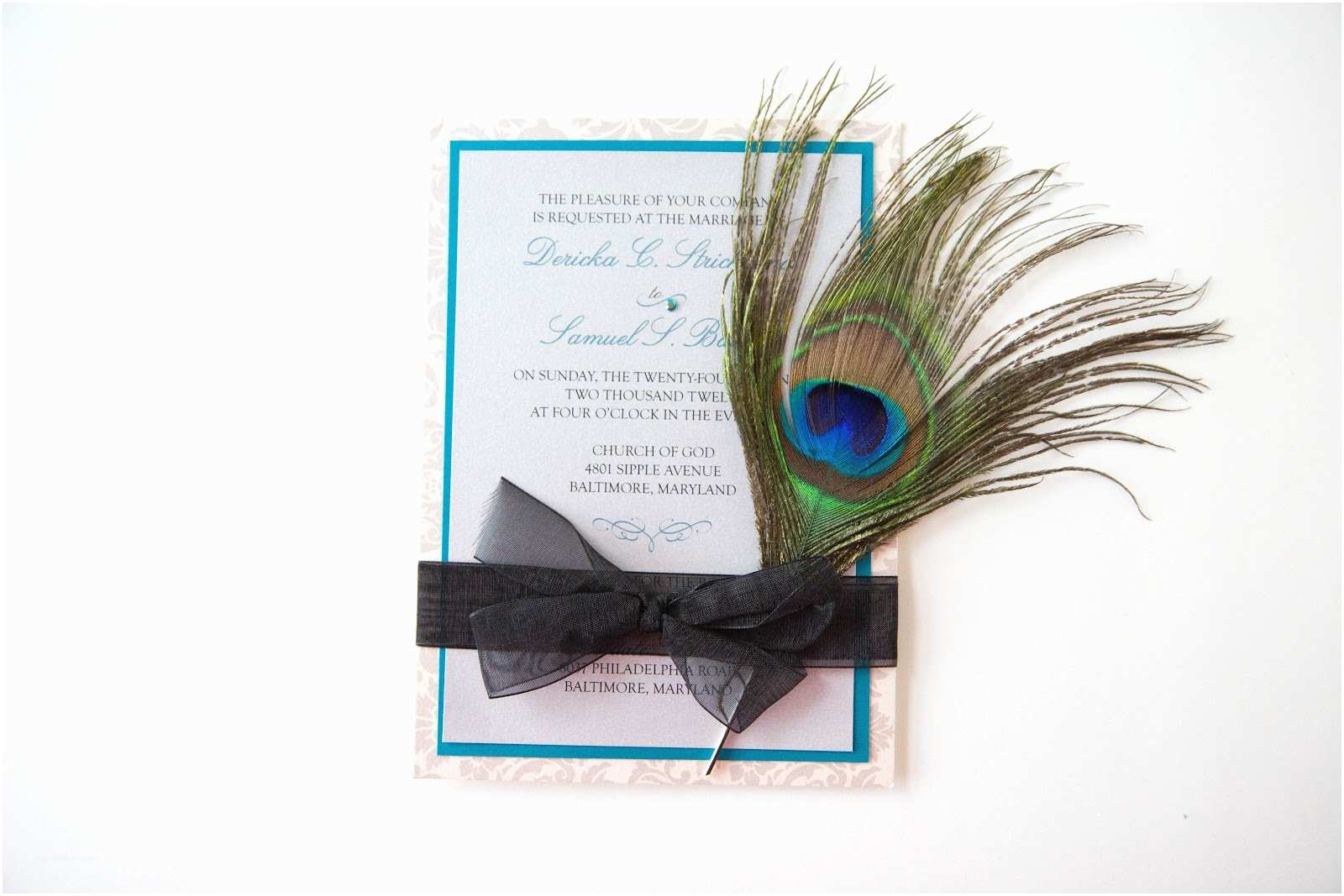 Peacock Feather Wedding Invitations Kindly R S V P Designs Blog January 2013