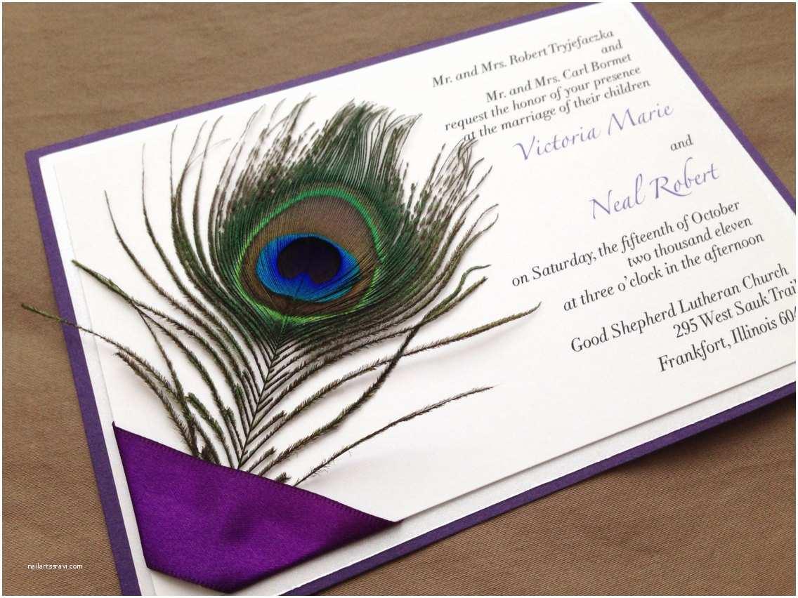 Peacock Feather Wedding Invitations Quenisha Peacock Feather Wedding Invitation