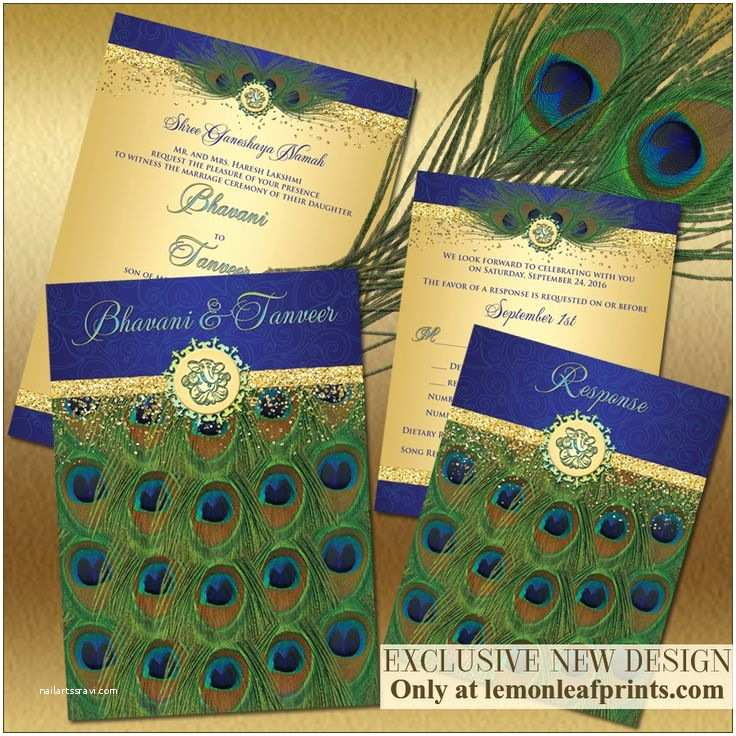 Peacock Wedding Invitation Sets 64 Best Peacock Feathers Wedding theme Images On Pinterest