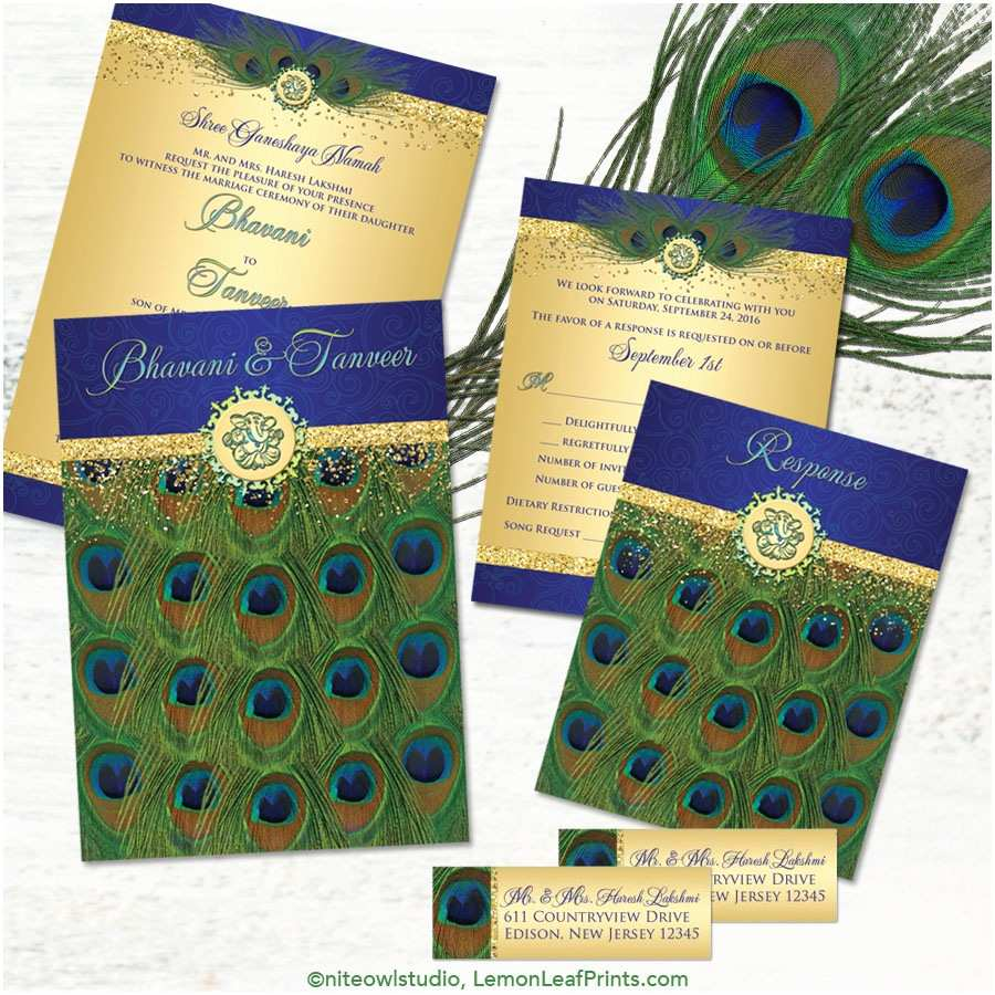 Peacock Wedding Invitation Sets Party Simplicity Peacock Wedding Invitation Sets Party