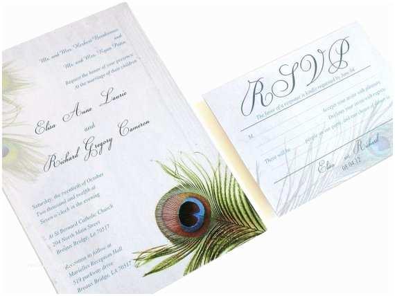 Peacock Wedding Invitation Sets Peacock Wedding Invitation Set Peacock Feather Invitation