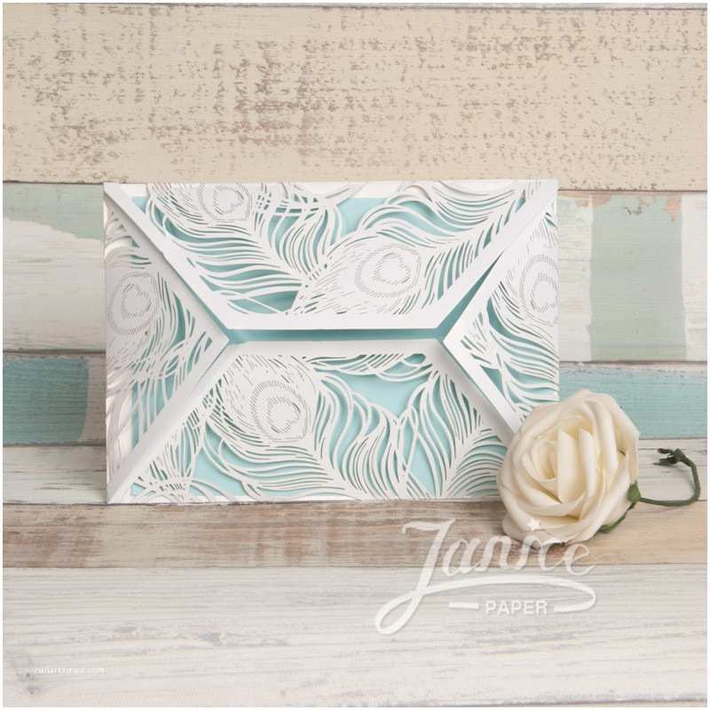 fantastic peacock laser cut wrap wedding invitations wholesale wpl0037 p 37