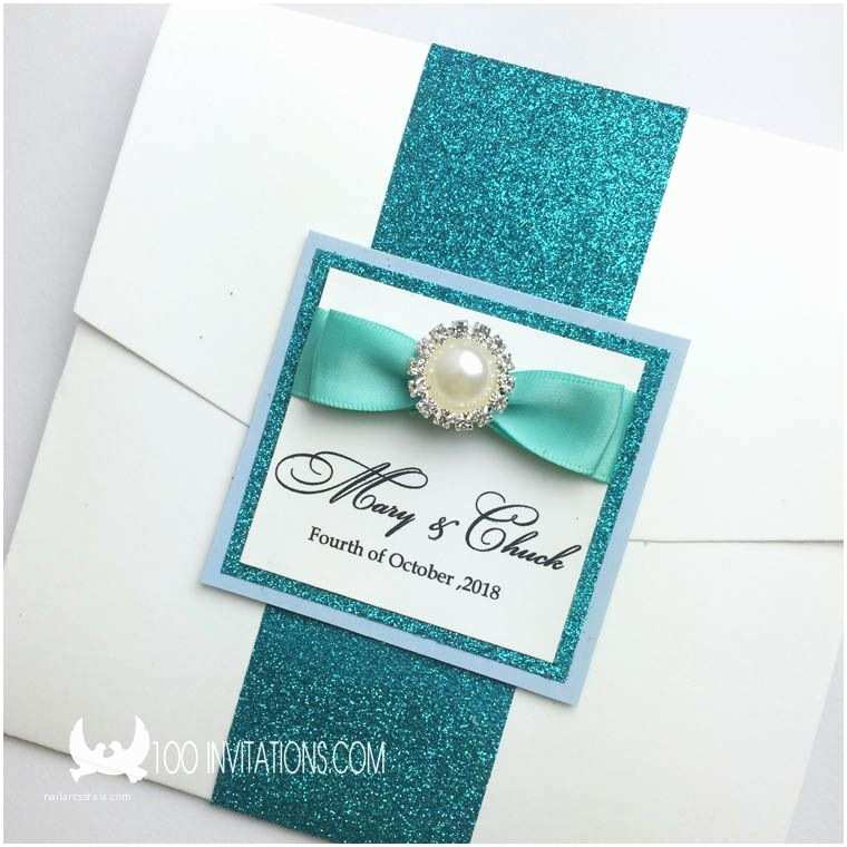 Peacock Wedding Invitations Cheap Peacock Glitter Pocket Wedding Invitations