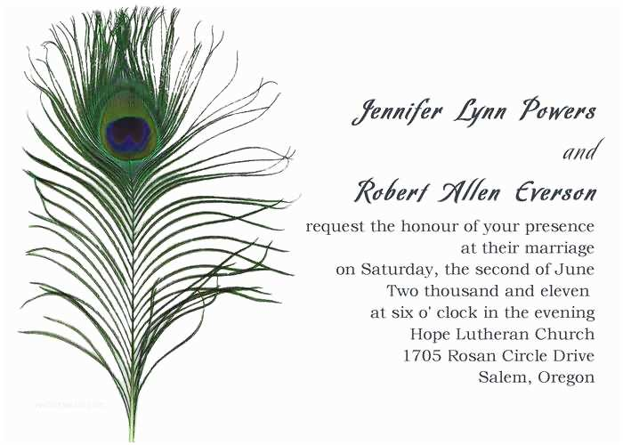 Peacock Wedding Invitations Cheap Simple & Classic Peacock Wedding Invitations Ewi094 as Low