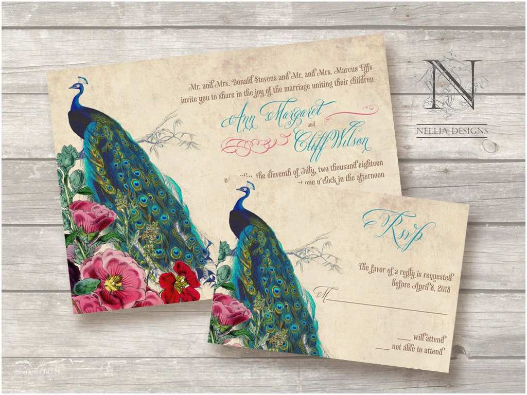 Peacock Wedding Invitations Great Ideas for the Busy Little Bride Peacock themed