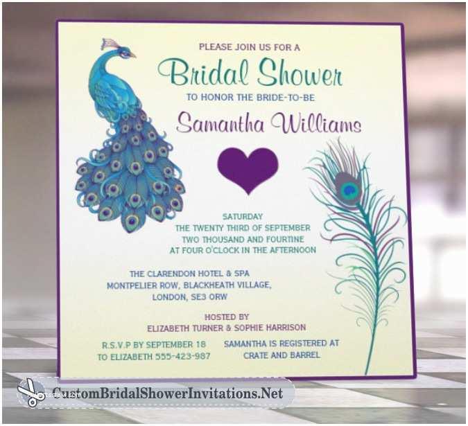 Peacock Wedding Shower Invitations Bridal Shower Invitation Templates Peacock Bridal Shower