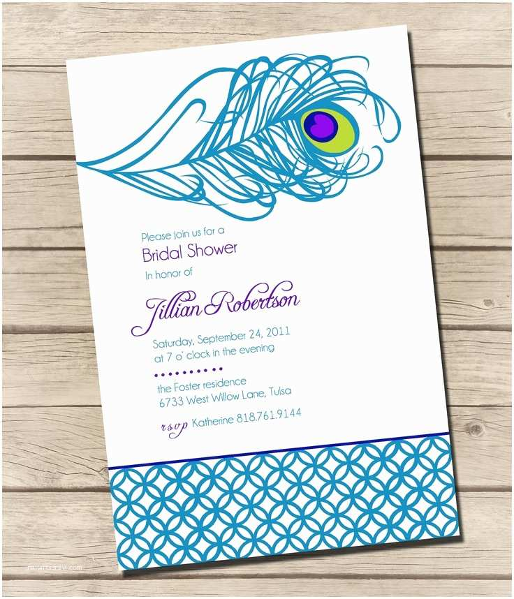 Peacock Wedding Shower Invitations Bridal Shower Invitations Bridal Shower Invitations Peacock