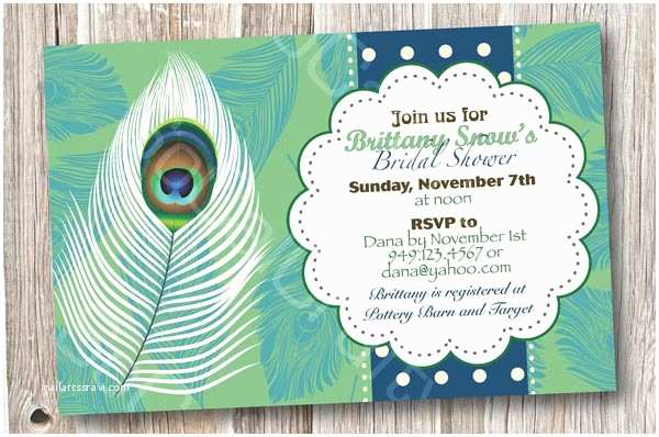 Peacock Wedding Shower Invitations Bridal Shower Invitations Easyday