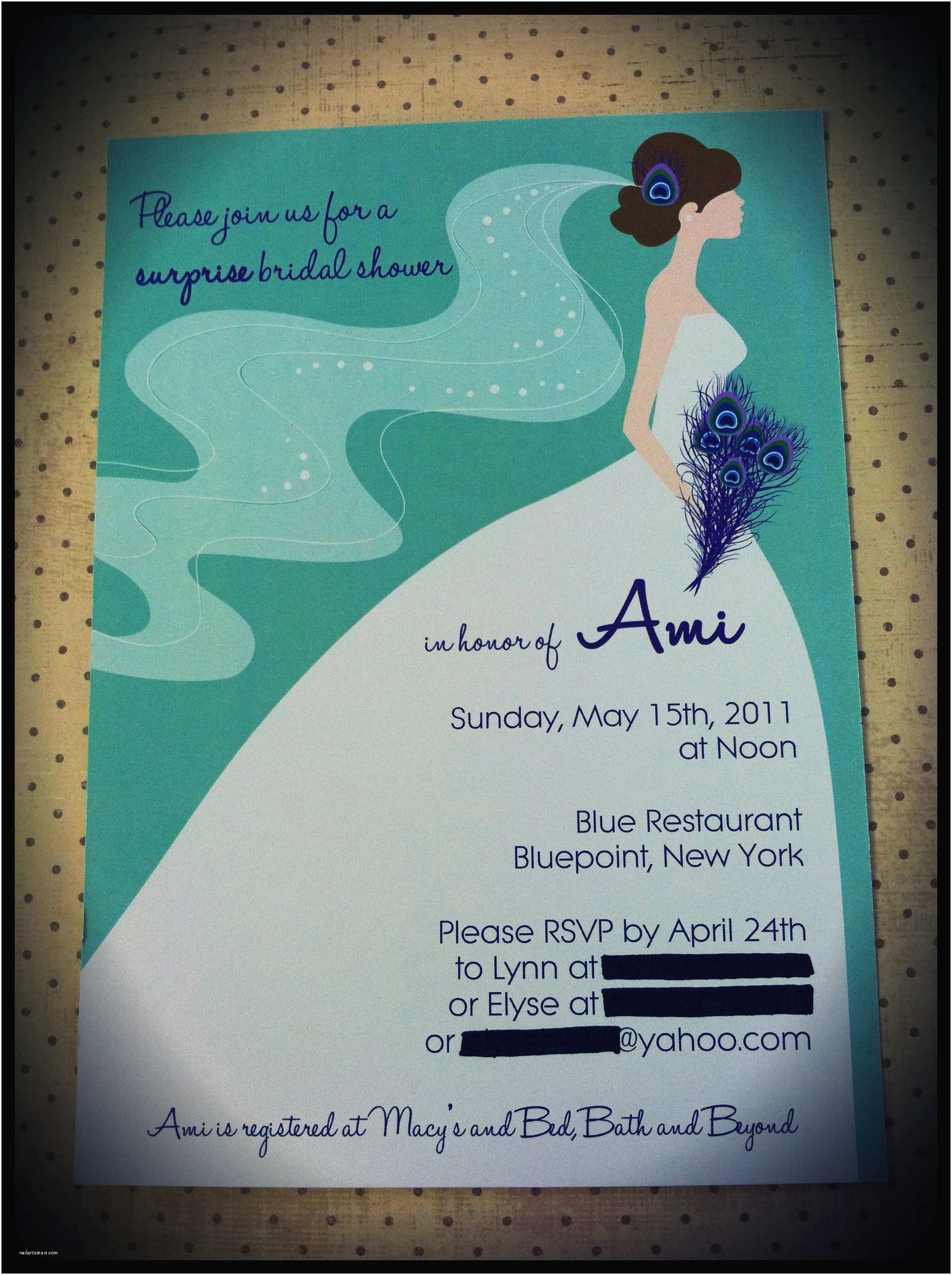 Peacock Wedding Shower Invitations Bridal Shower