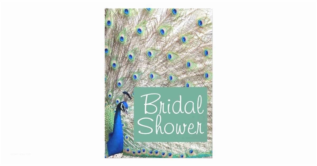 Peacock Wedding Shower Invitations Peacock Bird Bridal Shower Invitation
