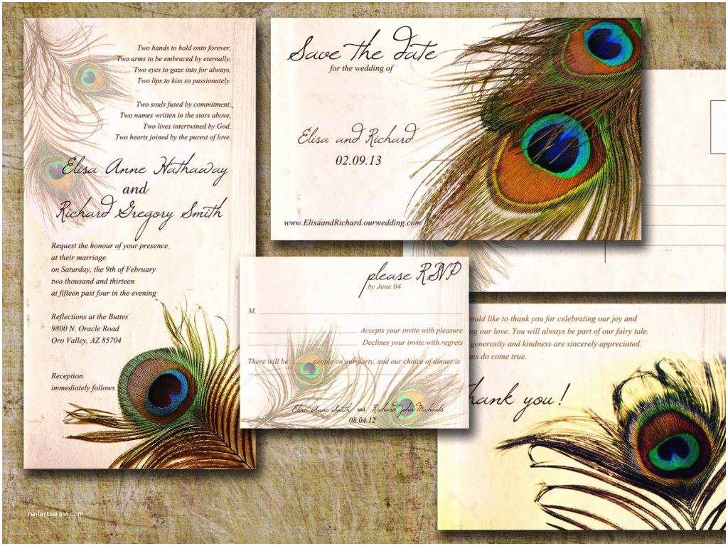 Peacock Wedding Shower Invitations Peacock Bridal Shower Invitation — Fitfru Style Elegant