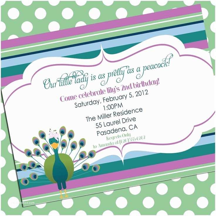 Peacock Wedding Shower Invitations Peacock Invitation Baby Shower Birthday Party Bridal