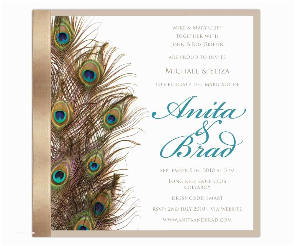 Peacock Wedding Shower Invitations Peacockeleganceinvite A Invitation Templates