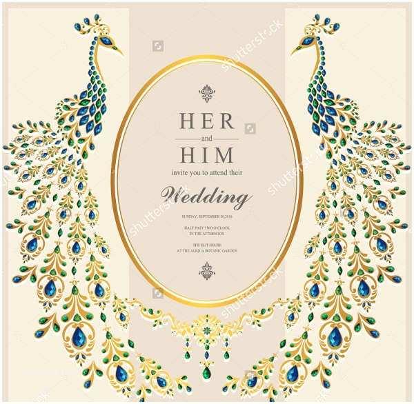 Peacock Wedding Shower Invitations Sample Wedding Invitations