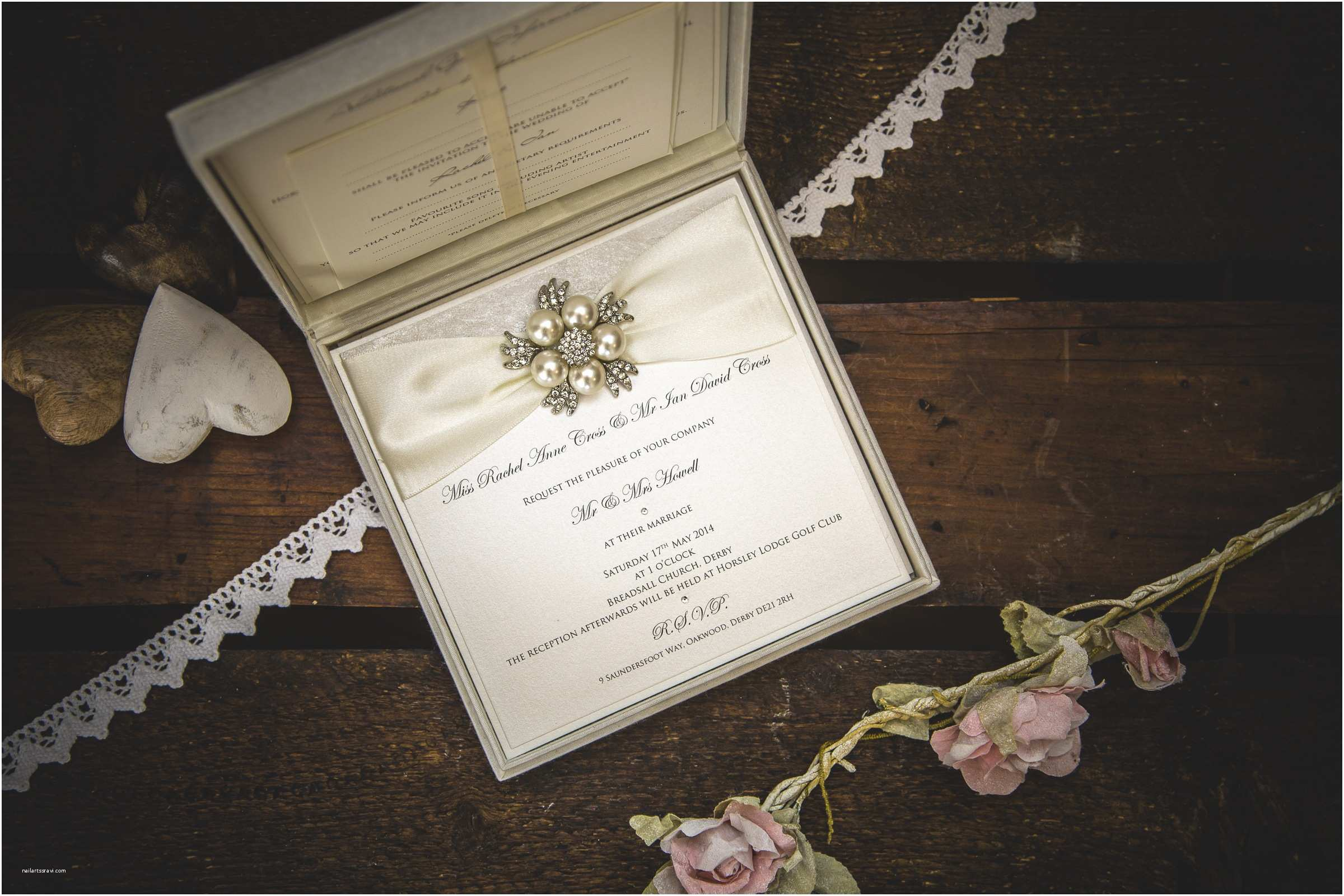 Pearl Wedding Invitations Diamonds and Pearls Wedding Invitations by No9 Designs