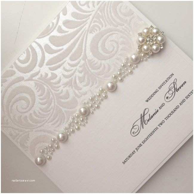 Pearl Wedding Invitations the 25 Best Wedding Cards Handmade Ideas On Pinterest