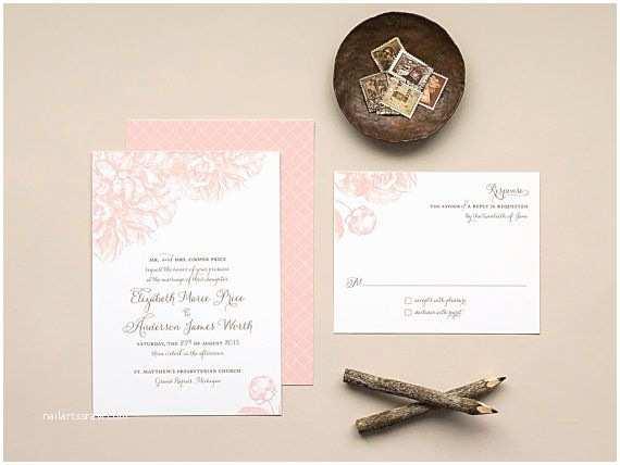 Peony Wedding Invitation 17 Best Ideas About Romantic Wedding Invitations On