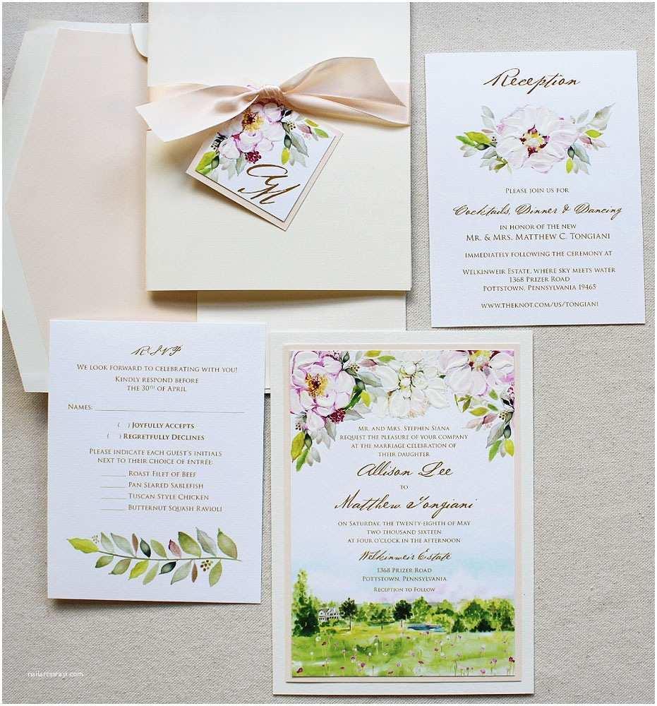 Peony Wedding Invitation A Peek Into the Studio Peony Wedding Invitations