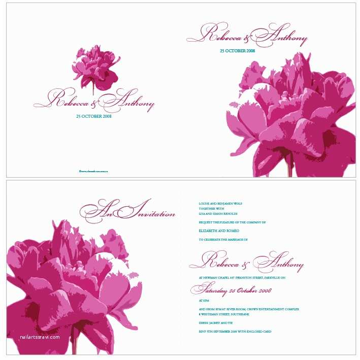 Peony Wedding Invitation Alannah Rose Wedding Invitations Stationery