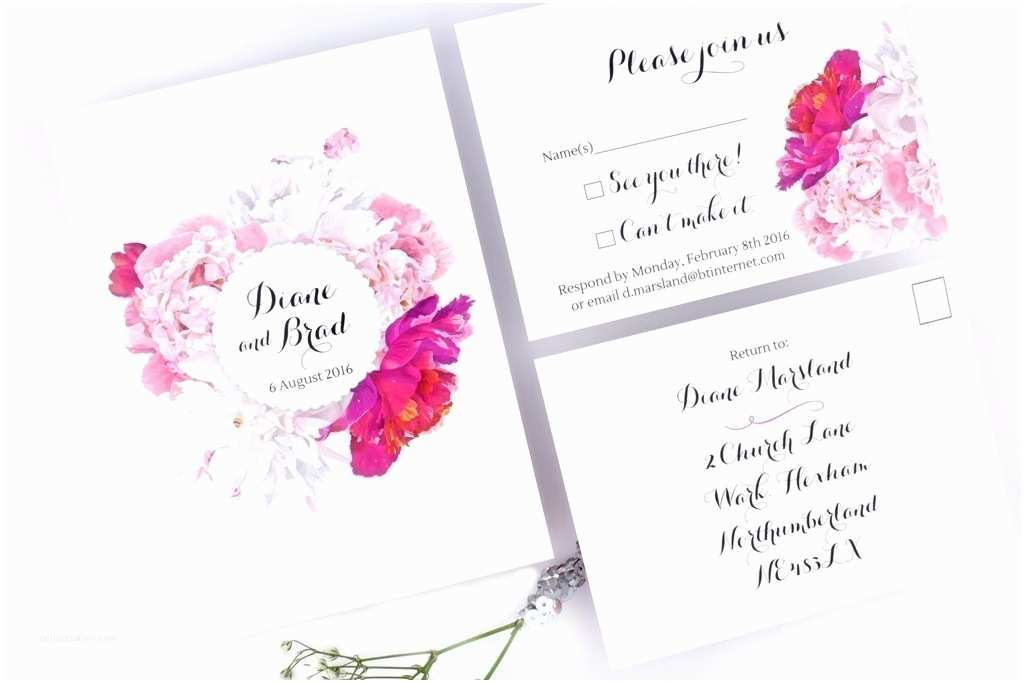 Peony Wedding Invitation Peony Floral Wedding Invitation Love Storey Weddings