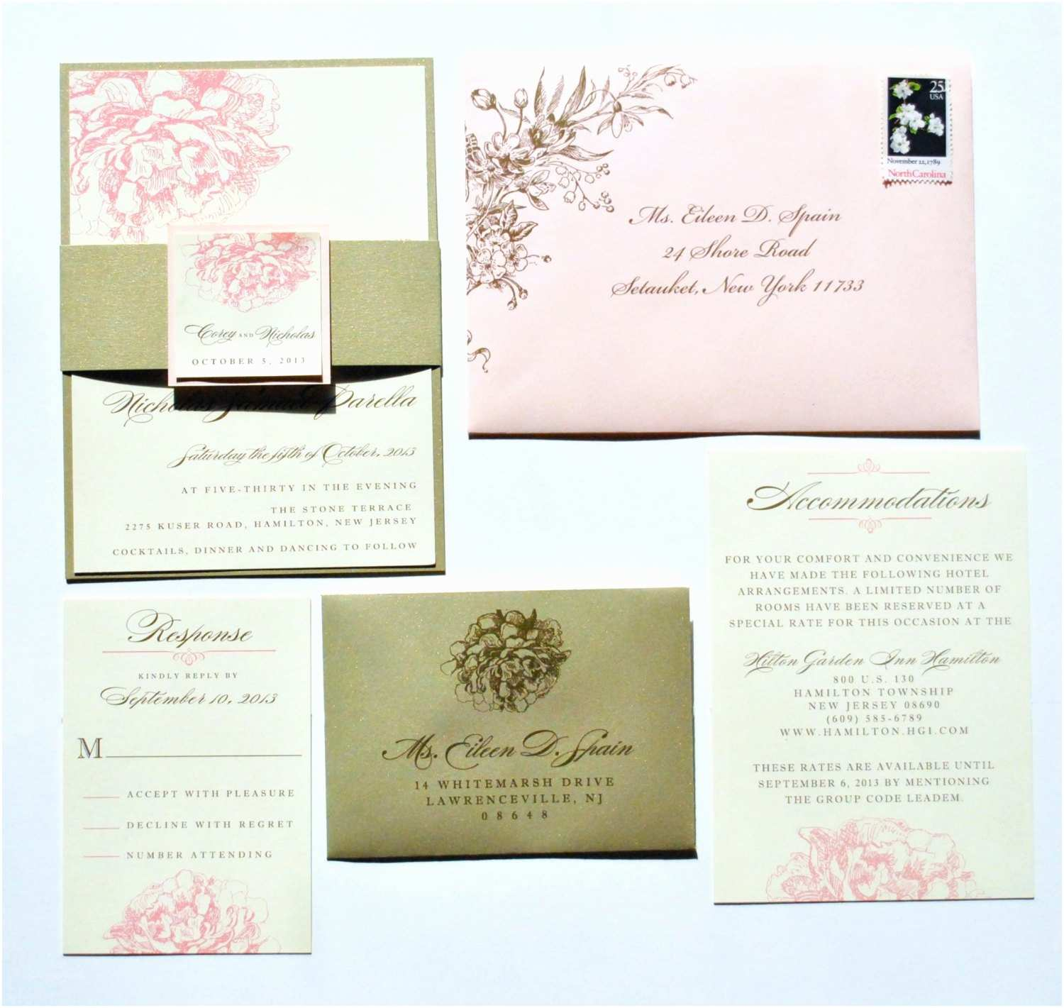 Peony Wedding Invitation Peony Wedding Invitations Pink Peony Invitations Romantic