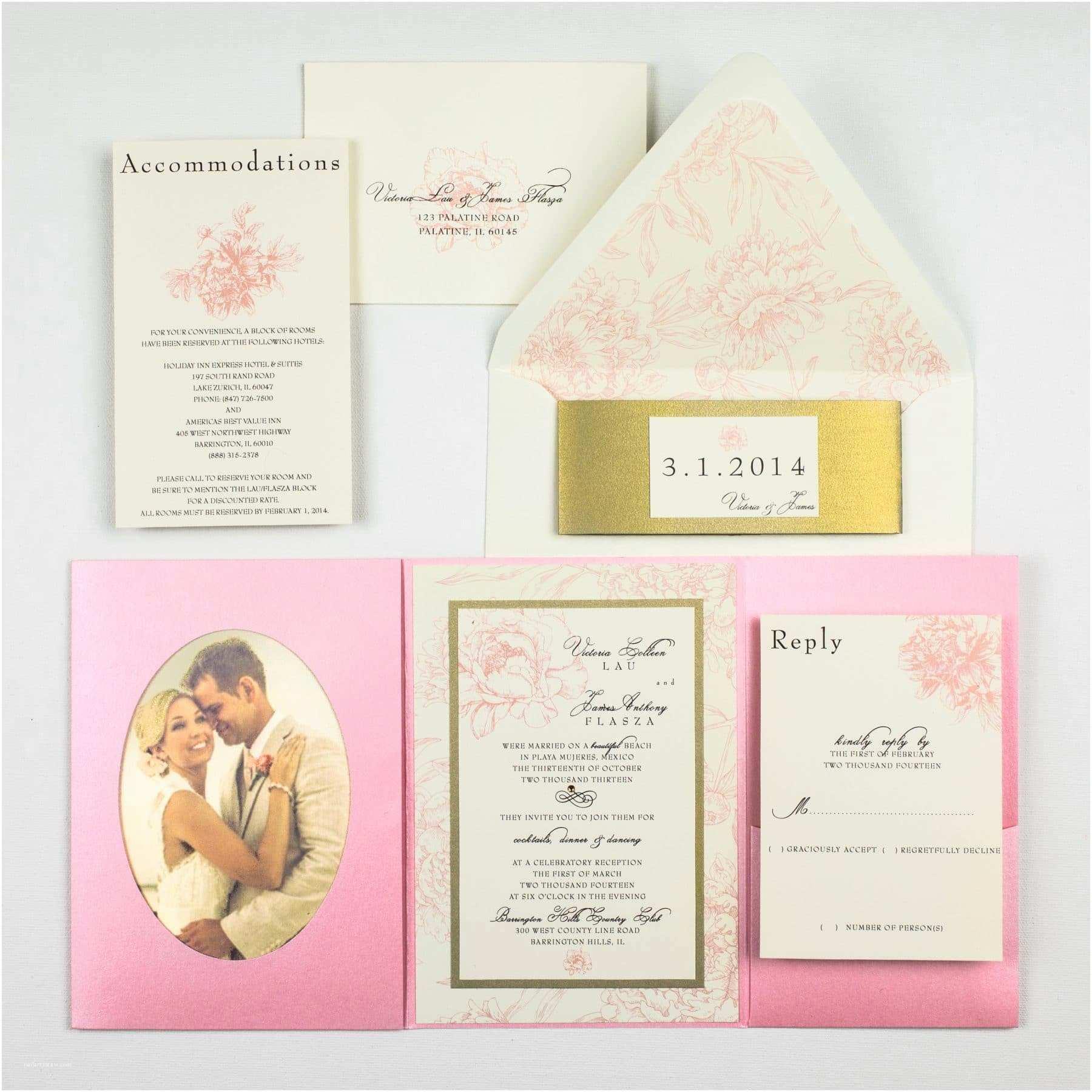 Peony Wedding Invitation Pink Peony Wedding Invitations too Chic & Little Shab