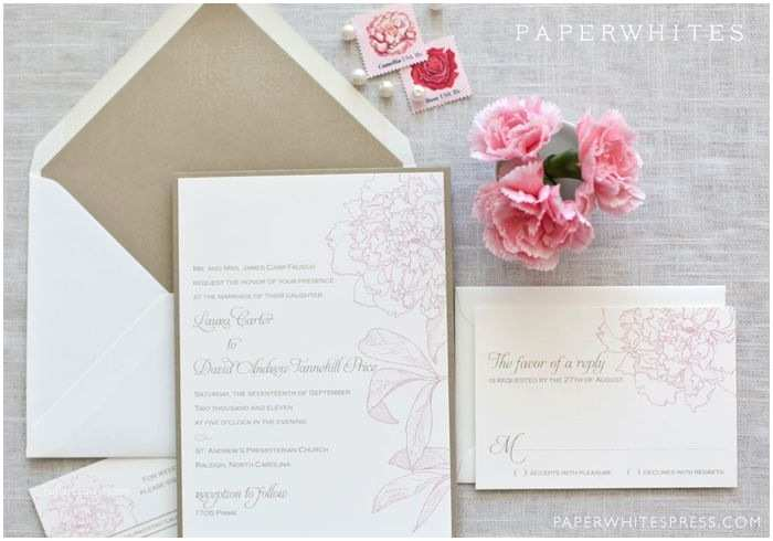 Peony Wedding Invitations 60 Best Images About Wedding Invites On Pinterest