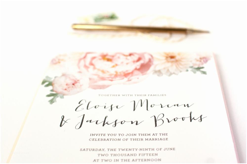 Peony Wedding Invitations Blush Peony Wedding Invitation Suite — Alisa Bobzien Wedding