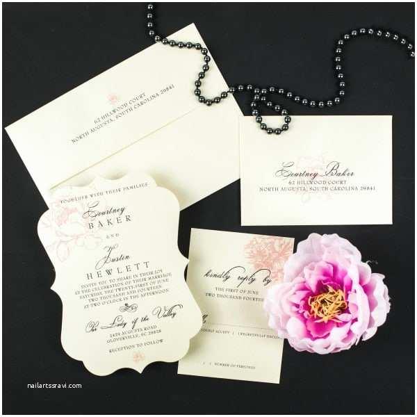 Peony Wedding Invitations Blush Peony Wedding Invitations too Chic & Little Shab