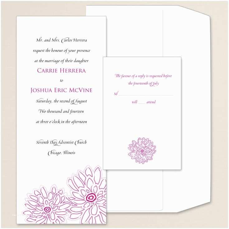 Peony Wedding Invitations Contemporary Peony Wedding Invitation