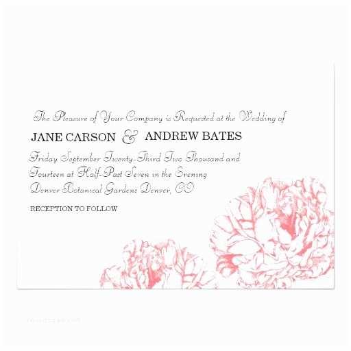 Peony Wedding Invitations Peony Wedding Invitation