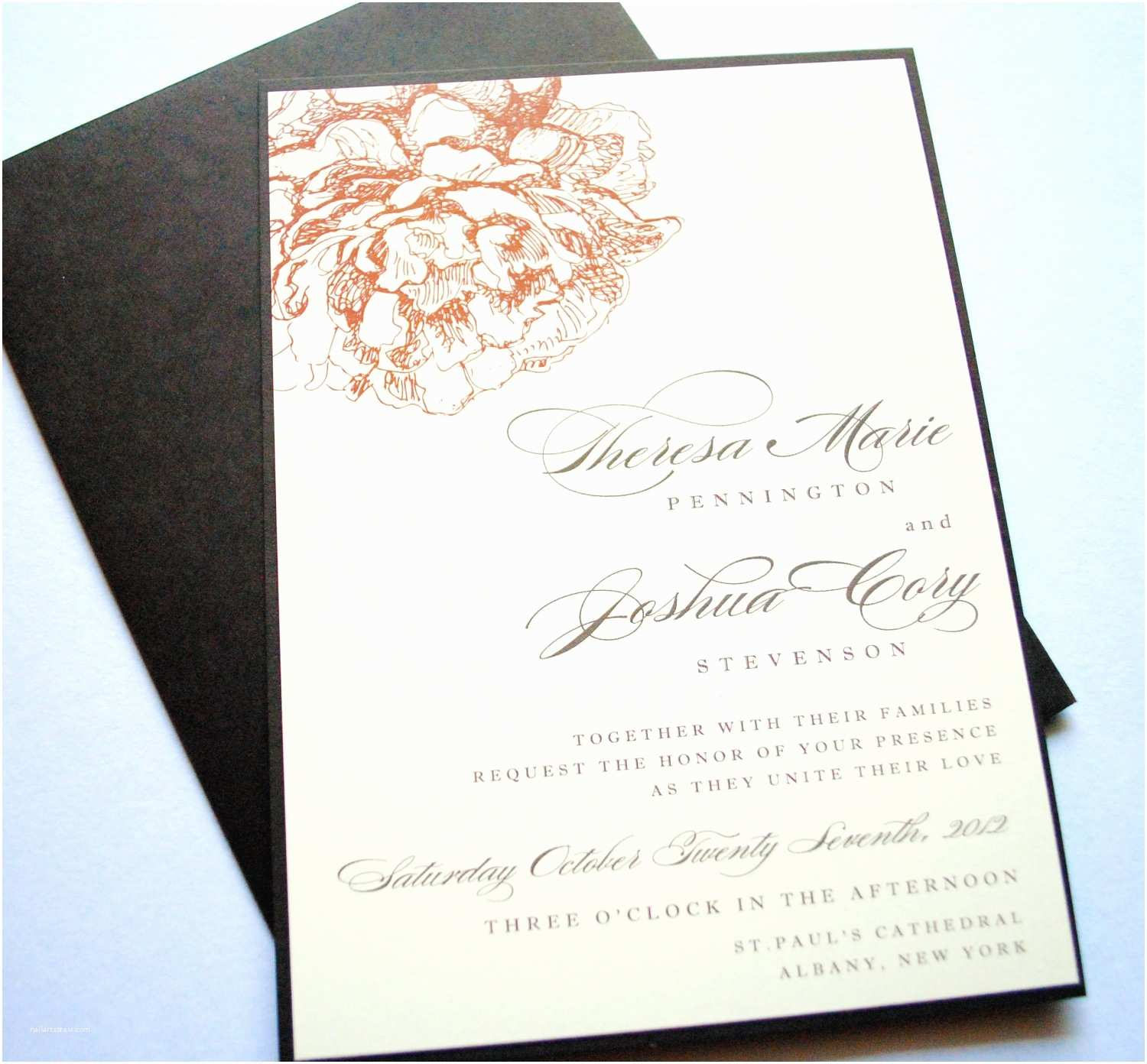 Peony Wedding Invitations Peony Wedding Invitations Floral Peonies Peony by