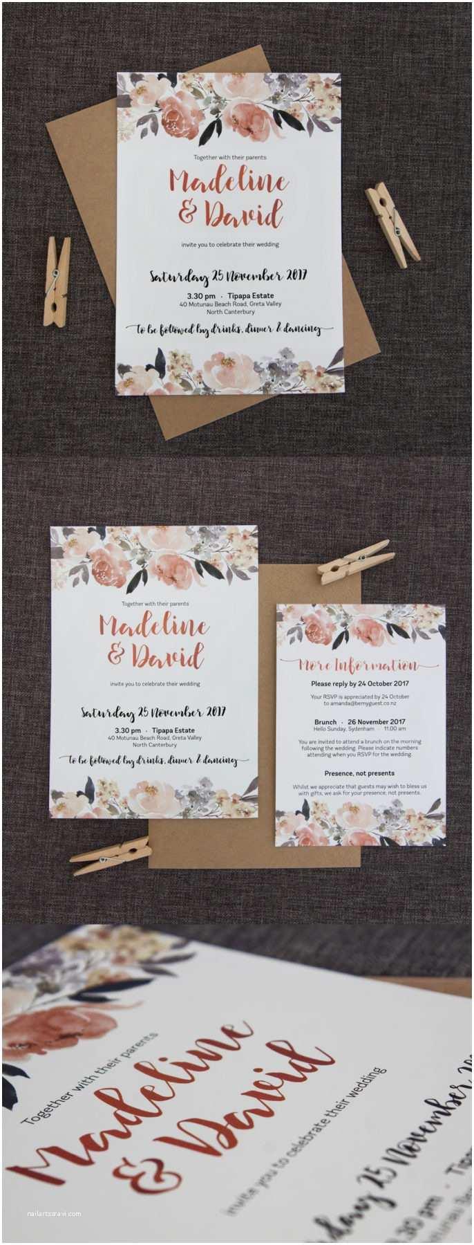 Peony Wedding Invitations Pretty Peonies Wedding Invitation Be My Guest