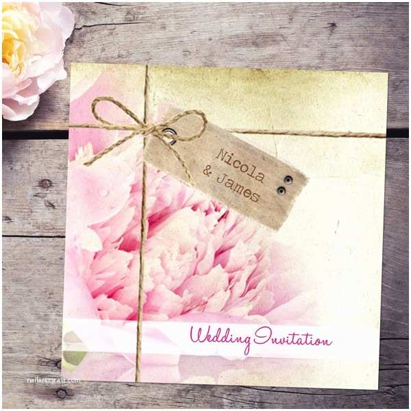 Peony Wedding Invitations Vintage Peony Wedding Invitations From Dotty About Paper