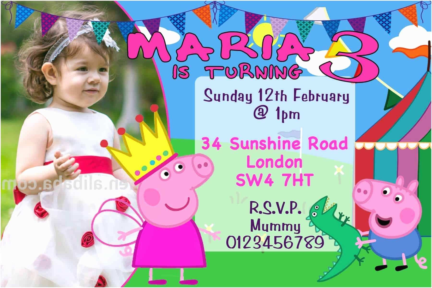 Peppa Pig Birthday Invitations 10 Personalised Peppa Pig and George Birthday Party