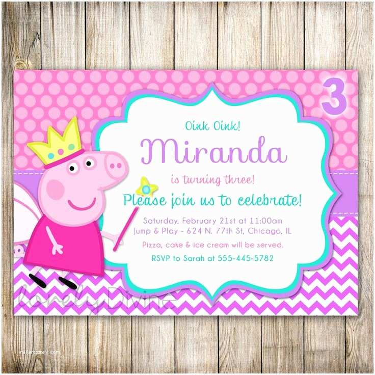 Peppa Pig Birthday Invitations 17 Best Images About Invitaciones On