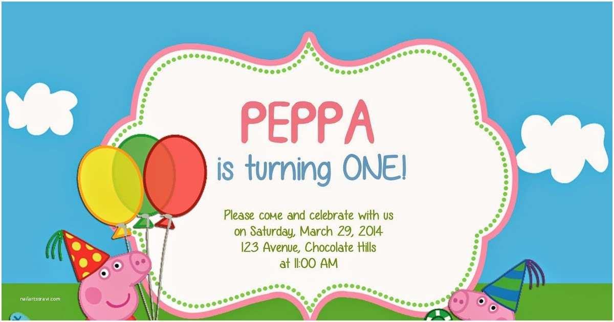 Peppa Pig Birthday Invitations I Make I Peppa Pig Invitation
