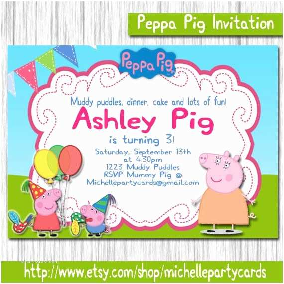 Peppa Pig Party Invitations 180 Best Images About Peppa Pig On Pinterest