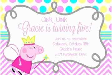 Peppa Pig Party Invitations Best 25 Peppa Pig Birthday