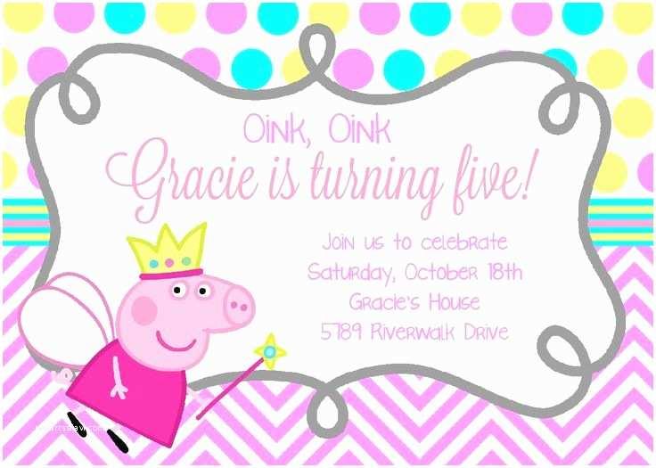 Peppa Pig Party Invitations Best 25 Peppa Pig Birthday Invitations Ideas On Pinterest