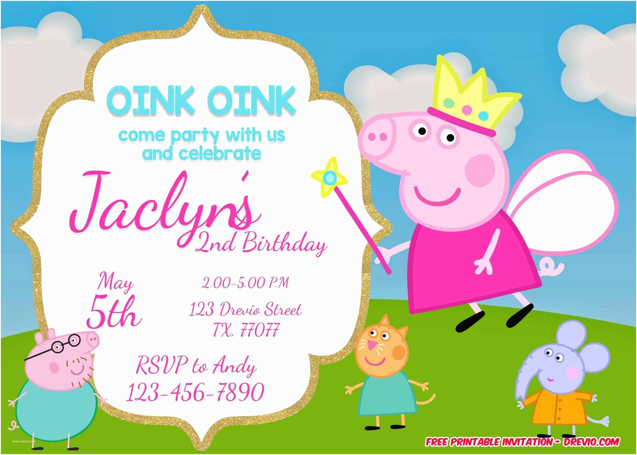 Peppa Pig Party Invitations Free Printable Peppa Pig Invitation Template