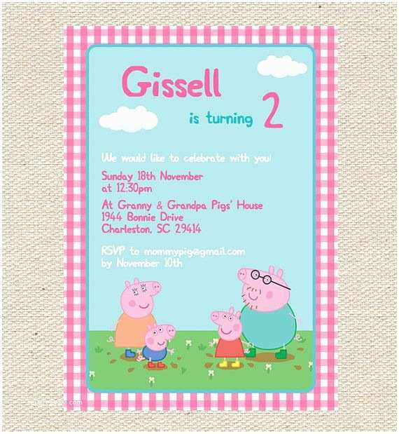 Peppa Pig Party Invitations Birthday Invitation Printable By