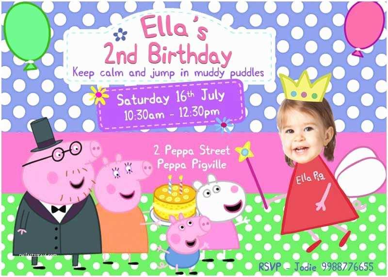 Peppa Pig Party Invitations Birthday Invitation Template